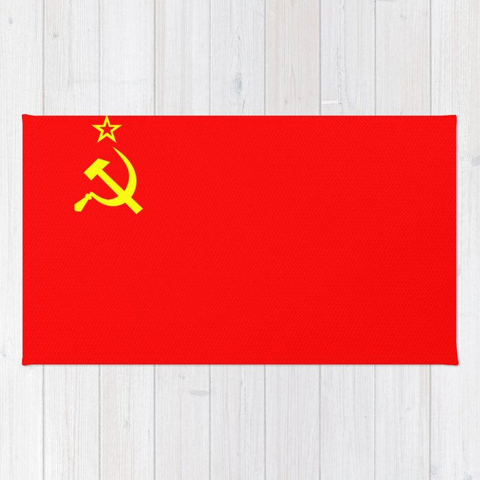 ussr cccp russia soviet union communist flag rug by tony4urban