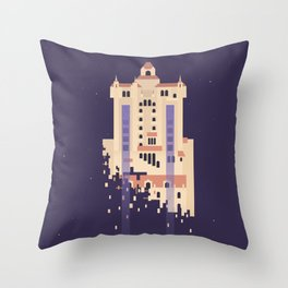 The Hollywood Tower Hotel Throw Pillow