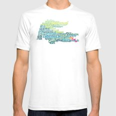 Crocodile in Different Languages White Mens Fitted Tee SMALL