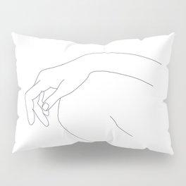 Hand on knee black and white illustration - Ana Pillow Sham