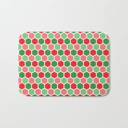 Holiday Hexies Bath Mat