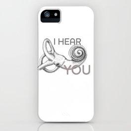 Inner Ear Illustration iPhone Case