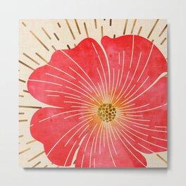 Red Wildflower Metal Print