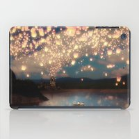 rapunzel iPad Cases featuring Love Wish Lanterns by Paula Belle Flores