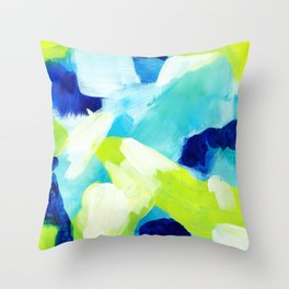 Summer brights abstract 1 Throw Pillow