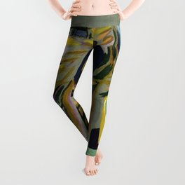 African American Masterpiece 'Experience America Harriet Tubman' by William Johnson Leggings
