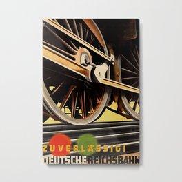 Deutsche Reichsbahn Vintage Travel Poster Metal Print