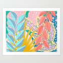 Modern Jungle Plants - Bright Pastels by sewzinski