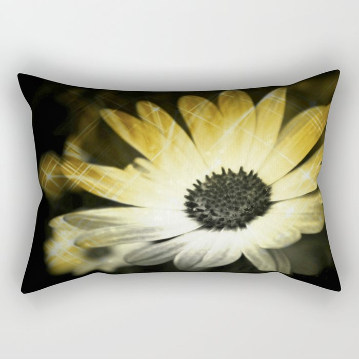 Sparkle Daisies Rectangular Pillow
