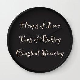 Love Baking Dancing Wall Clock
