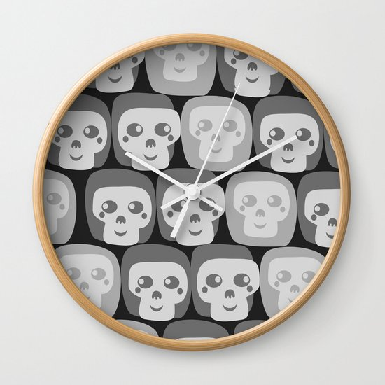 Boo - Skulls Pattern Wall Clock