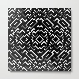 black pattern Metal Print