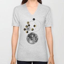 Moon Unisex V-Neck