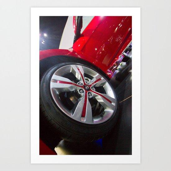 Hyundai Veloster Wheel Art Print