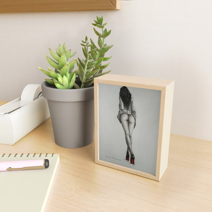 On heels Framed Mini Art Print