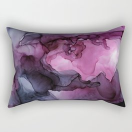 Abstract Ink Painting Ethereal Flowing Watercolor Nebula Rectangular Pillow