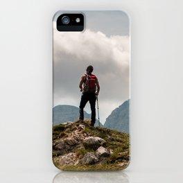 Trekking in the Julian Alps iPhone Case