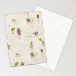 My Potted Cactus Pattern Stationery Cards