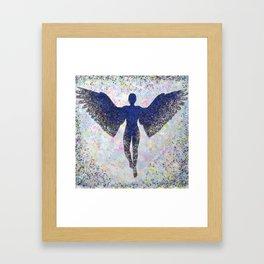 Rainbow Angel Explosion Framed Art Print