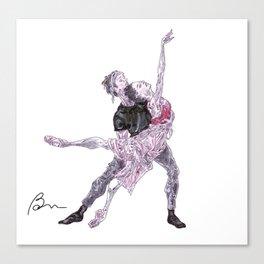 Natalia Osipova and Matthew Ball in Romeo and Juliet Canvas Print