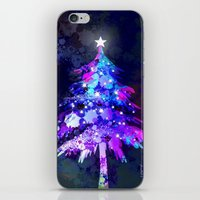 christmas tree iPhone & iPod Skins featuring Christmas Tree by tscreative
