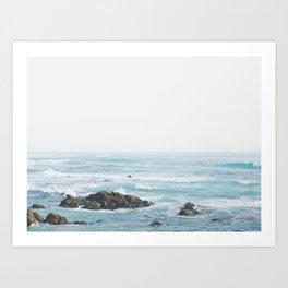 Monterey Coast - Minimalist Ocean Photography Art Print