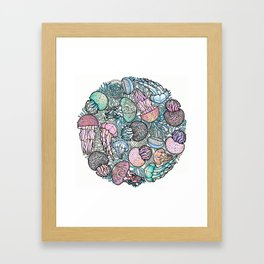 Jellyfishes Framed Art Print