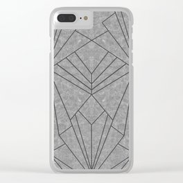 Art Deco in Black & Grey - Large Scale Clear iPhone Case