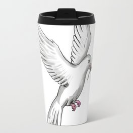 Dove Olive Leaf Tattoo Travel Mug