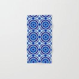 Blue and white monograms. Porcelain. Hand & Bath Towel