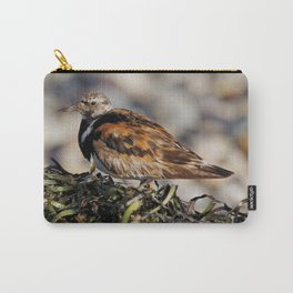 Ruddy Turnstone on Seaweed Mountain at the Beach Carry-All Pouch