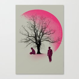 Sterek in Pink Canvas Print