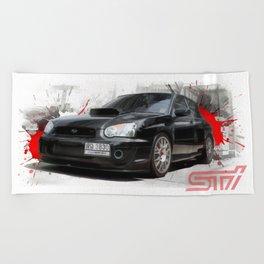 Cars: Subaru WRX STI Beach Towel