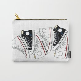 Sneakers black and white Carry-All Pouch