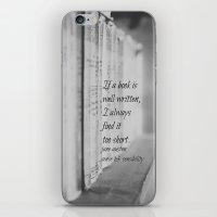 jane austen iPhone & iPod Skins featuring Jane Austen Book by KimberosePhotography