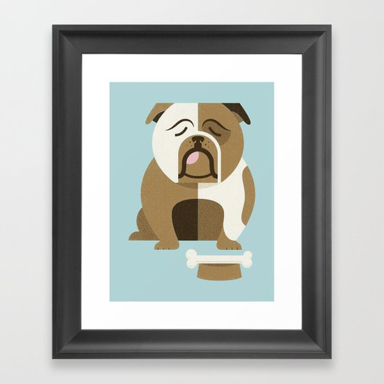 Bulldog - Blue Variant Framed Art Print
