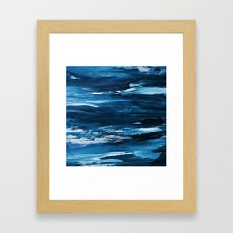 Blue Brush Strokes (Color) Framed Art Print
