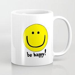 Be Happy Smiley Face Coffee Mug