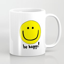 Be Happy Smiley Face Coffee Mug