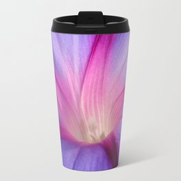 Lilac and Fuschia Morning Glory in Macro Travel Mug