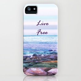 live free travel to west coast iPhone Case