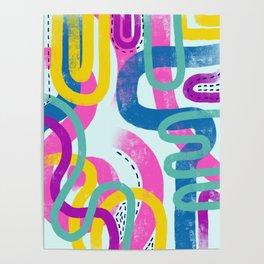 Fun bright abstract art Poster