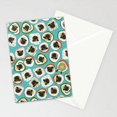 sheep sushi blue Stationery Cards