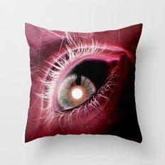 Scarlet Eye Throw Pillow