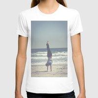 yoga T-shirts featuring Yoga  by L_Q.