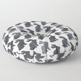Rabbit Chalkboard Pattern by Robayre Floor Pillow