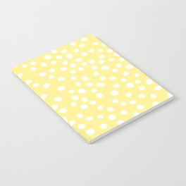 Pastel yellow and white doodle dots Notebook