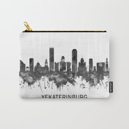 Yekaterinburg Russia Skyline BW Carry-All Pouch