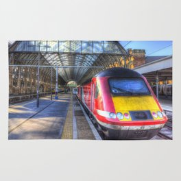 Virgin Train Kings Cross Station Rug