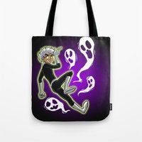 danny haas Tote Bags featuring Danny Phantom by Minty Art